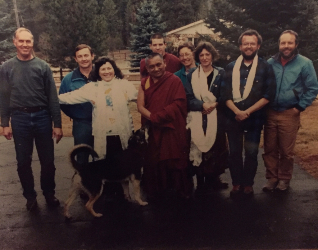 Lama Zopa Rinpoche and OSPL Members
